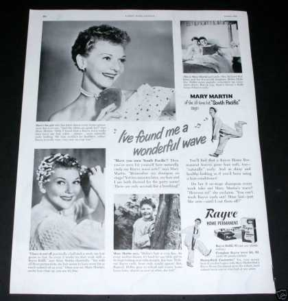 Rayve Home Perm, Mary Martin (1950)