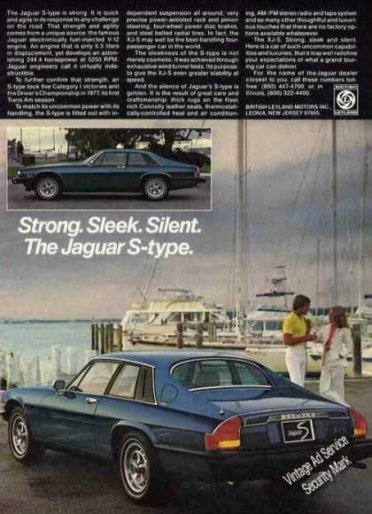 Jaguar S-type Strong. Sleek. Silent. (1978)