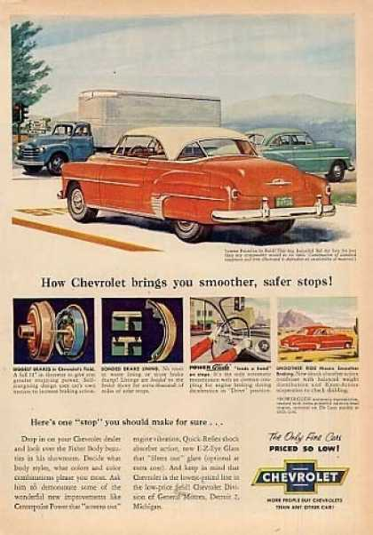 "Chevrolet Bel Air Car Ad ""How Chevrolet Brings... (1952)"