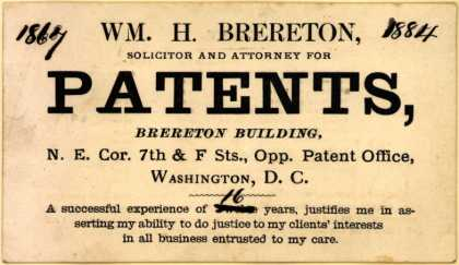 Wm. H. Brereton – Patents