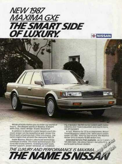 "Nissan Maxima Gxe ""Smart Side of Luxury"" (1987)"