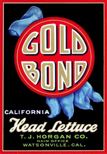 Gold Bond Head Lettuce, c. s (1930)