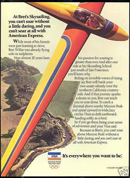 Visa Bret Willat Sailplane California (1987)