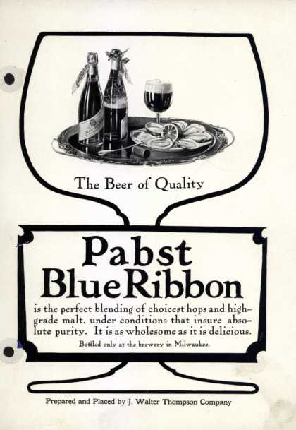J. Walter Thompson Company's beer – Pabst Blue Ribbon