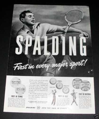 Spalding, First In Tennis (1946)