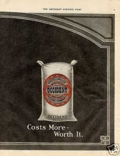 Occident Flour Color Ad Centerfold (1914)