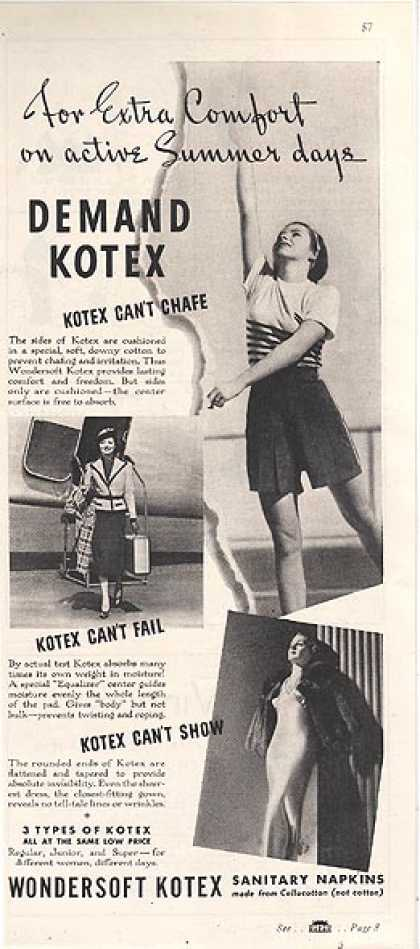 Kotex&#8217;s Sanitary Napkins (1937)