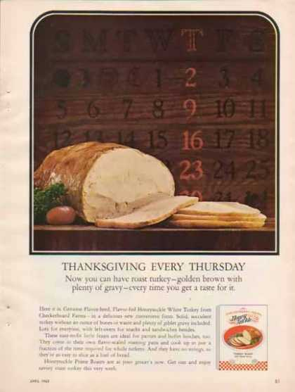 Checkerboard Farms Honey Suckle Turkey Roast &#8211; Thanksgiving (1965)