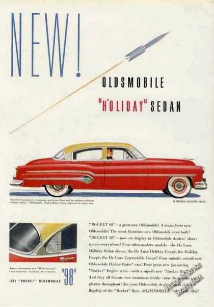 "Red Oldsmobile 98 ""Holiday"" Sedan Car (1951)"