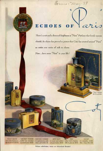 "Coty's ""Paris"" Cosmetics – Echoes of ""Paris"" (1939)"