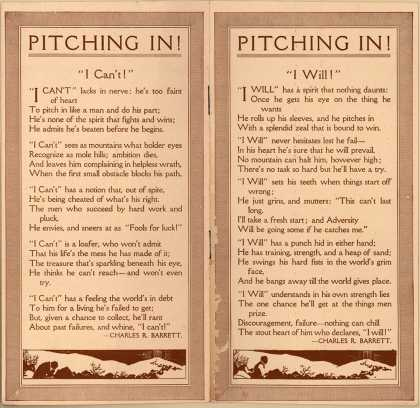 American School of Correspondence's self-improvement – Pitching In (1913)