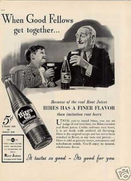 "Hires Root Beer Ad ""When Good Fellows... (1937)"