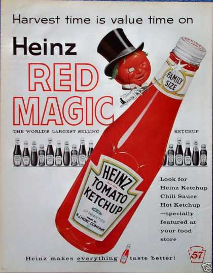 Heinz Tomato Ketchup Black Top Hat Spectacle Magic (1960)