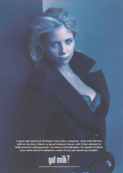Sarah Michelle Gellar – GOT MILK? (1998)