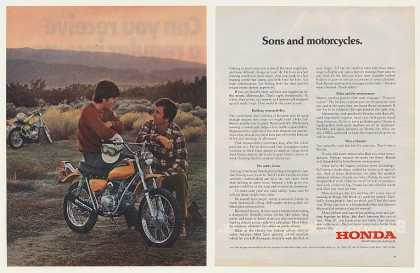 Honda SL70 Motorcycle Father Son (1972)
