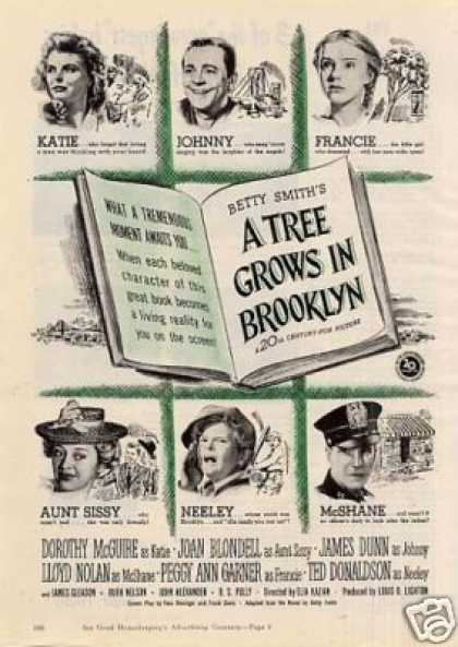 "Movie ""A Tree Grows In Brooklyn"" (1945)"