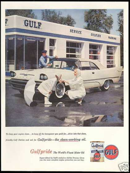 Gulf Gas Station Convertible Car Oil (1957)