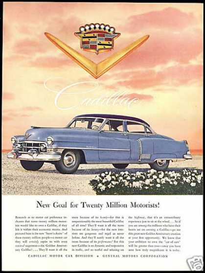 Golden Anniversary Cadillac Photo Vintage (1952)