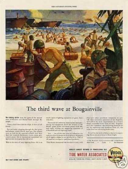 "Wwii Veedol Oil Ad ""The Third Wave at Bougainville (1944)"