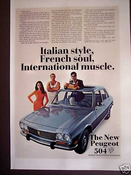 Peugeot 504 Italian Style French Soul Car Photo (1969)