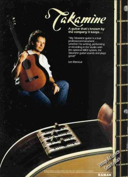 Lee Ritenour Photo Takamine Guitar (1987)