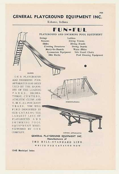 General Playground Equipment Slide Combination (1948)