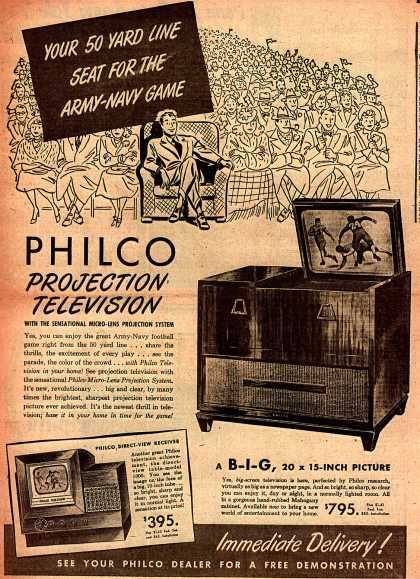 Philco – Your 50 Yard Line Seat For The Army-Navy Game (1947)