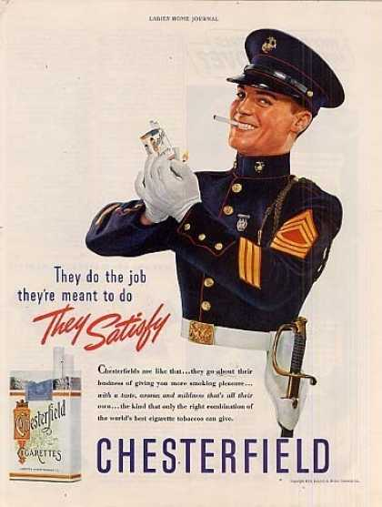 "Chesterfield Cigarettes Ad ""They Do the Job... (1939)"