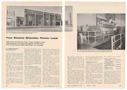 Tulia Texas Electric Power Plant 2-P Photo Article (1960)