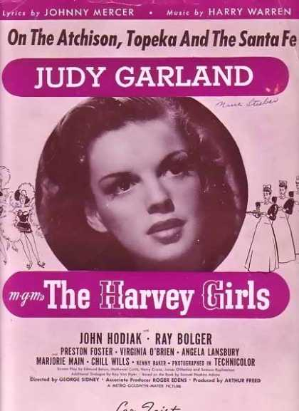 The Harvey Girls – Judy Garland Sheet Music Coverpage (1946)