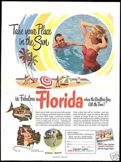 Fabulous Florida Travel Blonde Golf Photo (1953)