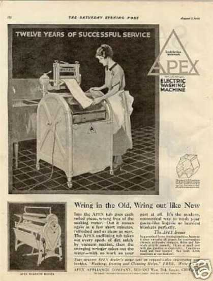Apex Washing Machine (1920)