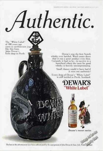 Dewar's Scotch 100 Yr Old Earthenware Jugs (1973)