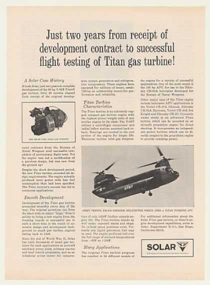 Army CH-47A Chinook Helicopter Solar Titan (1964)