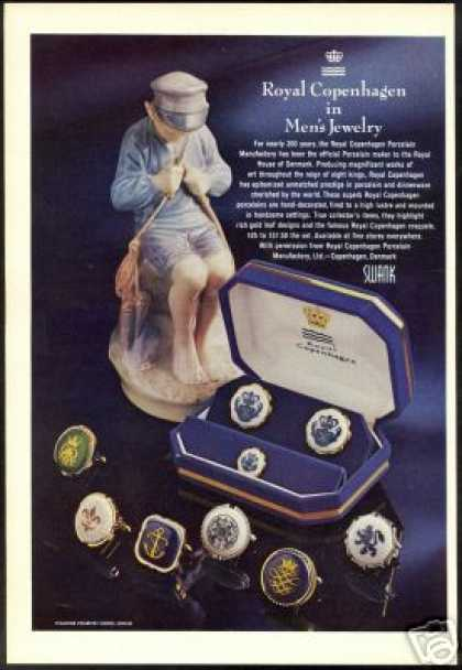 Royal Copenhagen Porcelain Mens Jewelry Photo (1971)