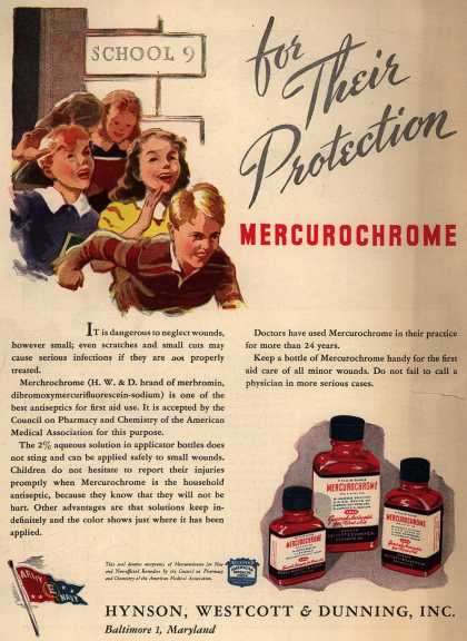 Hynson, Westcott and Dunning, Incorporated's Mercurochrome – For Their Protection Mercurochrome (1946)