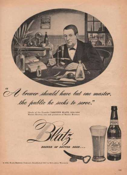 Blatz Brewer of Better Beer (1946)