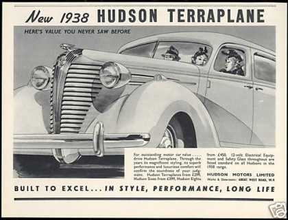 Hudson Motors Terraplane UK Car (1938)