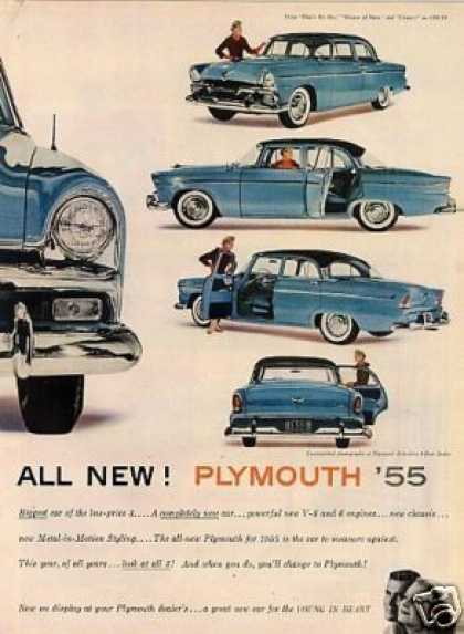 Plymouth Belvedere 4-door Sedan Ad 2 Page (1955)