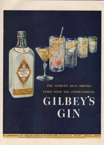 Gilbeys Distilled London Dry Gin (1942)