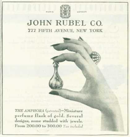 Rubel Fifth Av. Miniature Perfume Flask of Gold (1945)