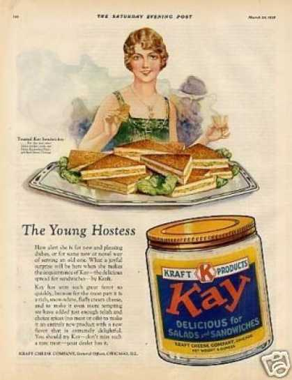 "Kraft Kay Cheese Ad ""The Young Hostess... (1928)"