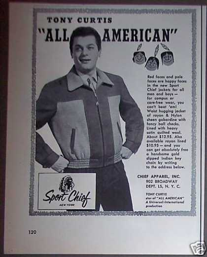 Sport Chief Jacket Tony Curtis (1953)