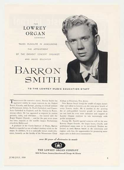 Barron Smith Lowrey Organ Photo (1958)