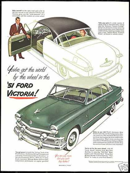 Ford Green Victoria 2 Car Vintage (1951)
