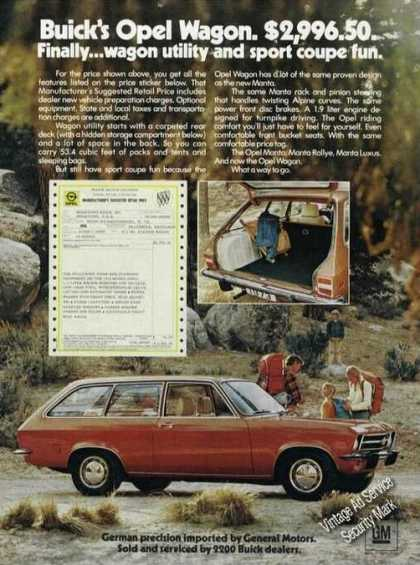 Buick Opel Wagon Photos Car (1973)