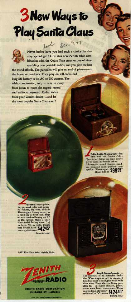 Zenith Radio Corporation's Various – 3 New Ways to Play Santa Claus (1947)