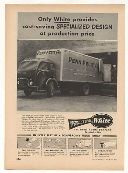 Penn Fruit White 3000 Specialized Design Truck (1952)