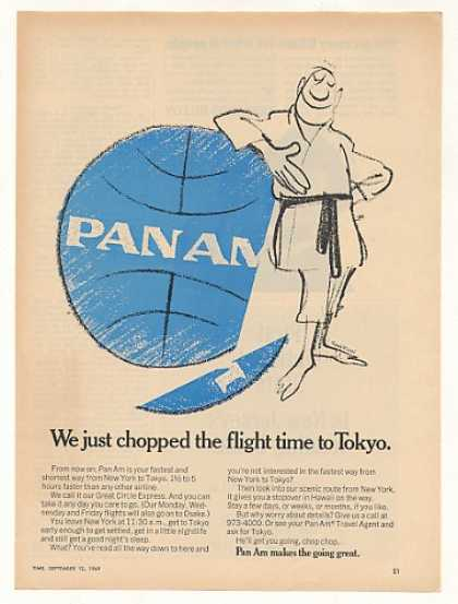 Pan Am Airlines Chopped Flight Time to Tokyo (1969)