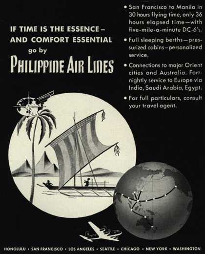 Philippine Air Lines – If Time Is The Essence-And Comfort Essential go by Philippine Air Lines (1949)